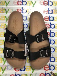 Skechers Women's Granola Relaxed Fit Luxe Foam Strap Sandals Sz 9
