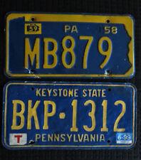 Set 2 Pennsylvania License Plates VINTAGE! Crafts! Collectible!! FREE SHIP!!