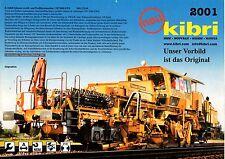 Feuillet Nouveauté Kibri 2001 - échelle Ho Gamme ferroviaire