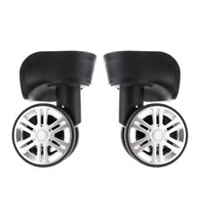 1 Pair Swivel Suitcase Baggage Casters Replacement Wheels for Travelling Bag