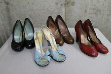 Lot of 4 Pr. 1940s Womens Shoes Pumps Sling Backs High Heels Sz 5-5 1/2