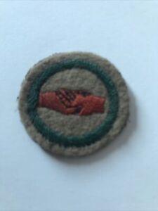 Vintage Scouting Memorial-1910's Felt Proficiency Badge-Interpreter