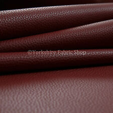 Red Colour Recycled Friendly Eco Leather Upholstery Fabric & Auto Trim Material