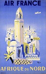 Air France | Afrique Du Nord | Vintage Travel Poster | A1, A2, A3