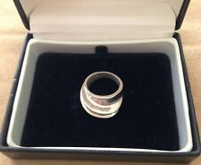 925 MEXICO - MANS CHUNKY TIERED VINTAGE RING - SIZE L 1/2 (6.25)