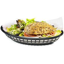 American Diner Style Black Serving Basket for Fries Chips Burgers
