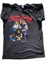 """Vintage 80s-1989 Skid Row """"Piece of Me"""" Graphic Band T-Shirt-double sided-XL"""