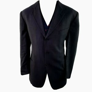 Joseph Abboud Nordstrom Wool Blazer Sport Jacket Coat Mens 46L Navy Work Dinner