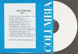 500 Choristes Cd Promo Celine Dion Garou Julie Zenatti Tina Arena Roch Voisine