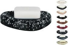 Spirella Etna Glitter Polysresin Soap Dish, Black