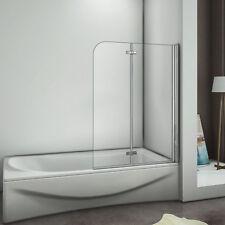 900x1400mm 180° Hinge 2 Fold Bath Shower Screen Door Panel Tempered Glass