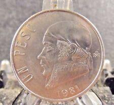 CIRCULATED 1981 UN PESO MEXICAN COIN (80617)1