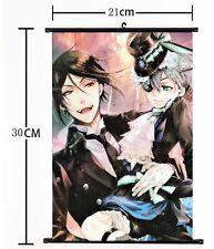 Wall Scroll Home Decor Black Butler Japan Anime 30*21CM cool Sebastian&Ciel 263
