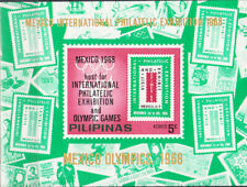 W PHILIPPINES Y1968 (10v) MEXICO OLYMPIC PHIALTELIC EXHIBITION UNAUTHORIZED SS