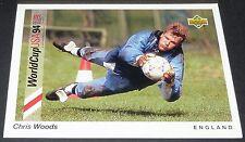 CHRIS WOODS SHEFFIELD ENGLAND FOOTBALL CARD UPPER DECK USA 94 PANINI 1994 WM94