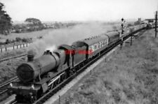 PHOTO  GWR HALL NO 6908 DOWNHAM HALL 1958 AT PATCHWAY 07.55 PENZANCE - SWANSEA E