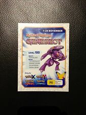 Unscratched Mint Genesect Mythical Pokemon Level 100 Nintendo Expired Code AUS