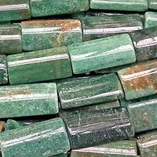 Aventurine 30x15mm Green Rectangle Semi Precious Stone Beads Q6 Beads per Pkg