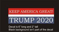 MAGA Keep America Great TRUMP 2020 car decal stocking stuffer bumper sticker