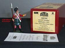 BRITAINS 50030C COLLECTORS CLUB REDCOATS 92ND GORDON HIGHLANDER NCO 1815 FIGURE