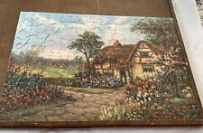 Vintage The Muddle Jigsaw Puzzle - Grandmothers Garden - Cottage - Complete