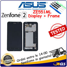 TOUCH SCREEN + Frame LCD DISPLAY PER Asus Zenfone 2 ZE551ML Z00AD Z00ADA NERO