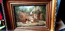 PAIR19th Century Antique Barbizon French PAINTINGS OILS ON PANEL