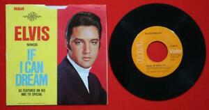 """Elvis """"If I Can Dream"""" 47-9670 VERY RARE 1968 NBC HYPE ON SLEEVE M/M"""