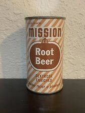 Mission Root Beer Flat Top Soda Can