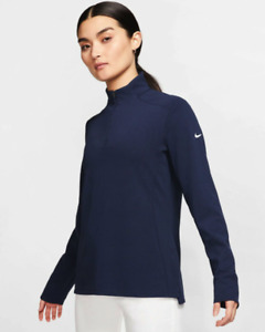 NWT$75 Nike Dri-FIT UV Victory 1/2 Zip Golf LS Navy BV0259-419 Women's Size XL