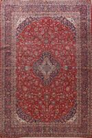 Vintage Floral Traditional Wool Area Rug Hand-knotted Oriental RED Carpet 10x13