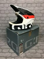 GIRO CIPHER S FULL FACE WHITE RED BLACK MOUNTAIN BIKE HELMET MTB RRP £179  EP