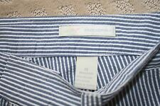 """Womens Greg Norman Blue Seersucker BErmuda Shorts Size 10 Waist 34"""""""