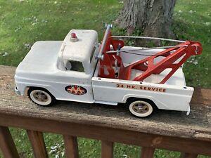 Vintage Tonka Pressed Steel Metal 24 Hr Service AA Wrecker Tow Truck Toy