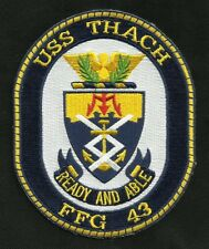USS THACH FFG-43 Oliver Hazard Perry Class Frigate Ship Crest Military Patch