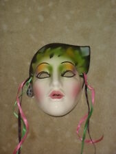 CLAY ART CERAMIC MASK...JUNGLE GIRL...EXTREMELY RARE!
