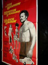 BLACK GUNN jim brown rare affiche cinema u.s blaxploitation 1972  200x103cm