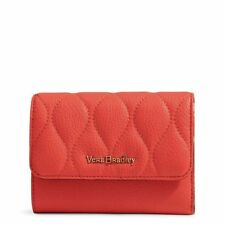 """*NWT* Vera Bradley """"Riley"""" Compact Leather Wallet in Sycamore Canyon Sunset($108"""