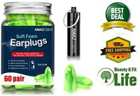 SLEEPING EAR PLUGS 60 Pairs 35 db Ultra Soft Noise Reduction Hearing Protection