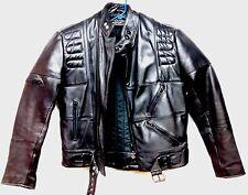 Harley Davidson Men's 42REG Black Leather Coat Jacket Padded Liner EUC!