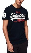 Superdry Hombre Informal Vintage Logo Tri Camiseta Cuello en Pico Algodón