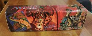 MTG Magic The Gathering Storage Box - Shivan Dragon Rathi Balduvian 1998