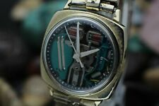 C. 1970 ACCUTRON By BULOVA 214 Tuning Fork 10K Gold Filled Cushion Case Watch