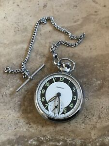 VINTAGE INGERSOLL POCKET WATCH AND CHAIN