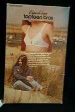 Nos 32 Aa Vtg 1970s Top Teen Bra Nylon Knit Nice Natural Exquisite Form 70s P38