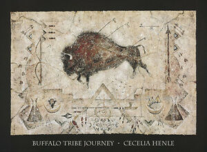 Buffalo Tribe Journey Art Print by Cecilia Henle
