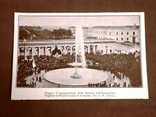 Foggia 23 marzo 1924 Inaugurazione fontana Acquedotto Pugliese Piazza Cavour