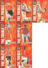 7 MANCHESTER UNITED FUTERA FANS THE TREBLE CARDS FROM THE 2000 FUTERA SET