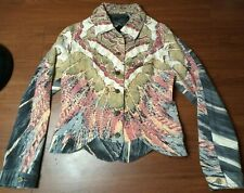 Woman's Roberto Cavalli Jacket Glitter lined with reflective stones clean
