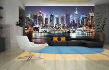 NEW YORK CITY NIGHT SKYLINE  MANHATTAN VIEW Photo Wallpaper Wall Mural 335x236cm